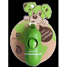 Dispenser with 1 Roll Poop Bag Dispenser (unscented)