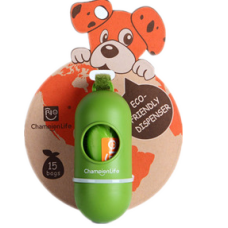 Dispenser with 1 Roll dog waste bag (Cherry-scented)